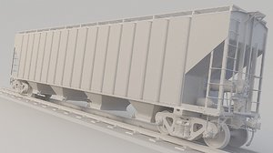 3D train hopper ehsx model