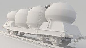 3D train tank tanker model