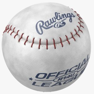 3D model real baseball ball