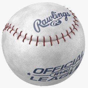 3D model real baseball ball