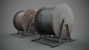 3D cable reel industrial model