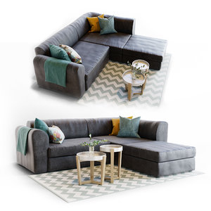 sofa livingroom 3D model