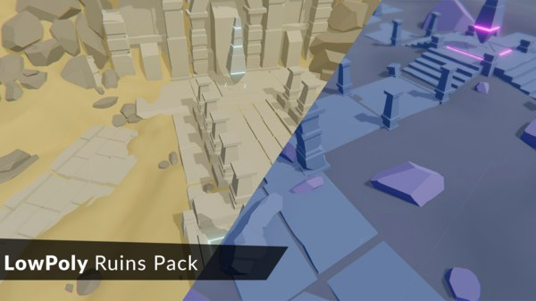 3D ruins pack
