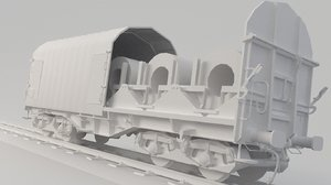 3D container train spool model