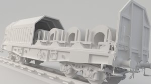 3D container spool metal model