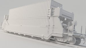 3D model train container
