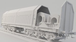 3D container train model
