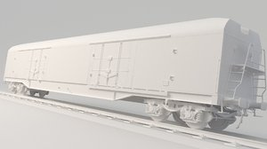 container train refrigerator 3D model