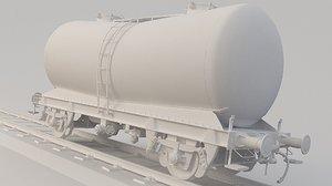 train tank tanker 3D model