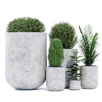 concrete flowerpot 3D