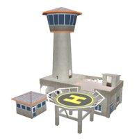 air traffic control tower model