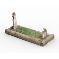 old tomb 3D model