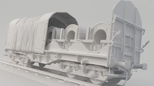 3D model container train spool