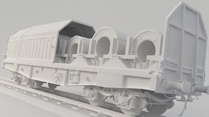 3D container train spool model