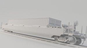 train wagon dttx 3D