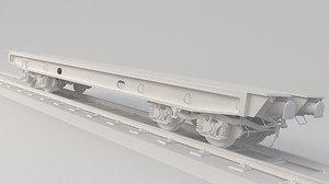 train flatcar flat model