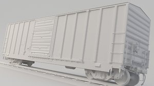 3D train boxcar 3