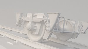 train wheel bogie model