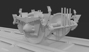 train wheel 3D
