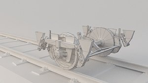 train wheel bogie 3D model