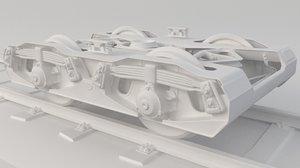 train bogie 3D