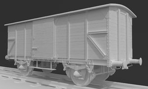 train woods wagon 3D model