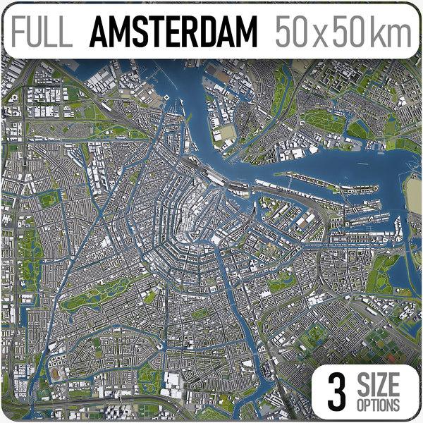 amsterdam city town 3D model