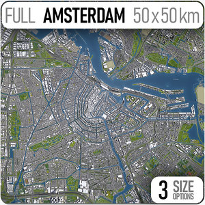 amsterdam city town 3D model