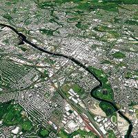 Glasgow With Terrain