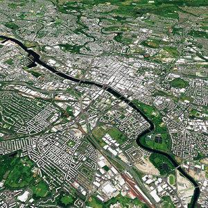 glasgow city 3D model