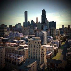 3D model city architecture cityscape