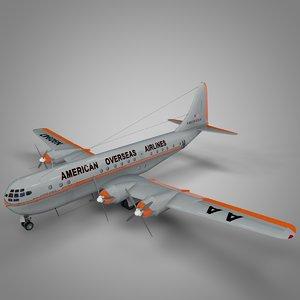 boeing 377 stratocruiser american 3D model