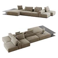 3D westside divano poliform model