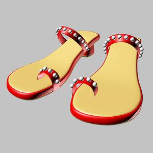 sexy footwear fashion sandals 3D model