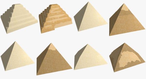 3D types pyramids egypt