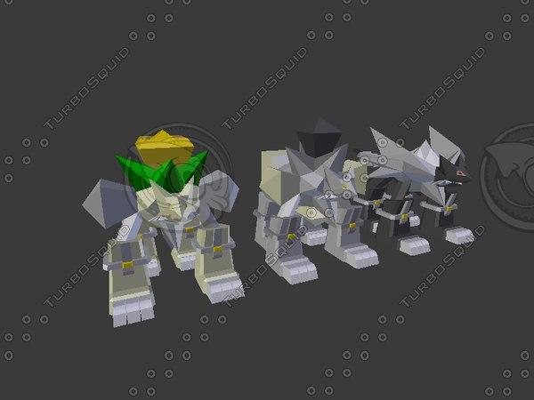 3D monster wolves