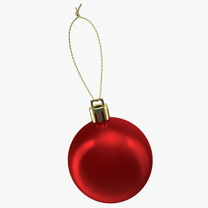 3D christmas ball ornament model