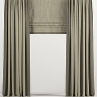 curtains roman beige model
