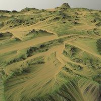 3D land landscape scape