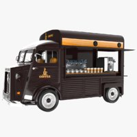 coffee truck 3D