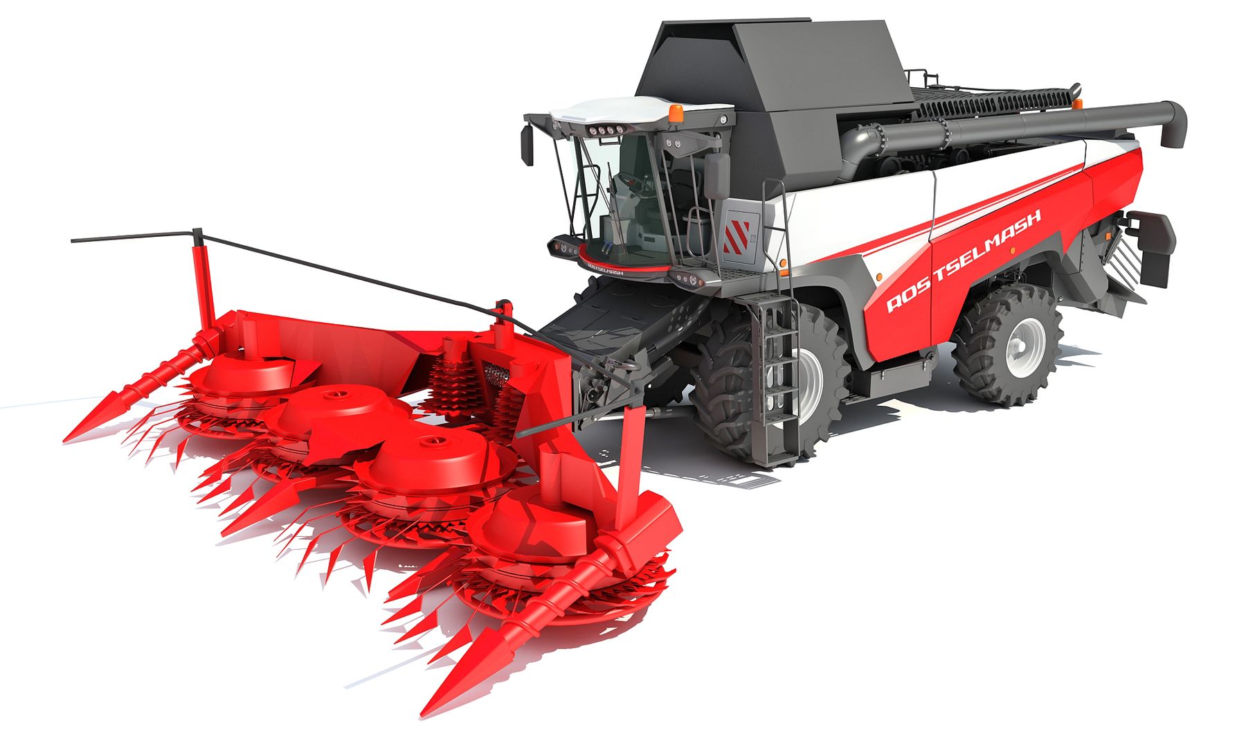 3D model rostselmash forage combine harvester