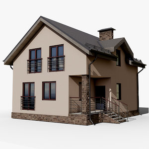 3D gameready cottage 1