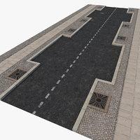 3D asphalt fragment street
