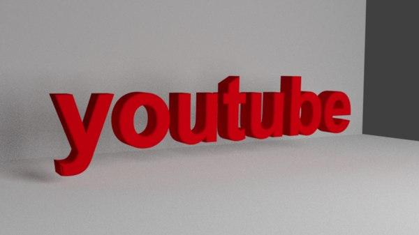 best youtube logo 3D