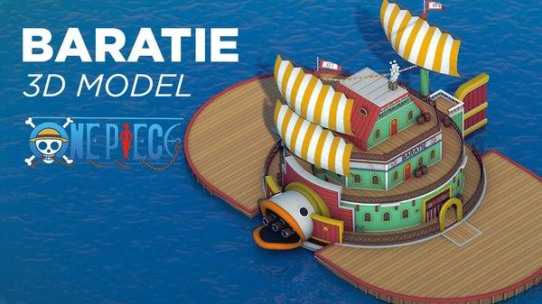 baratie piece 3D model
