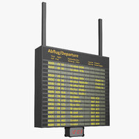 airport information board 3D model