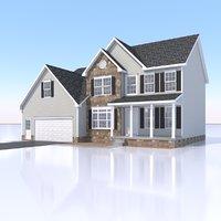 single family home 3D