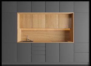 kitchen wood 3D model