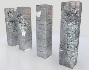 damaged pillars metalness model