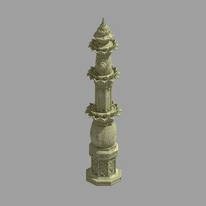 3D decorative stone sculpture -